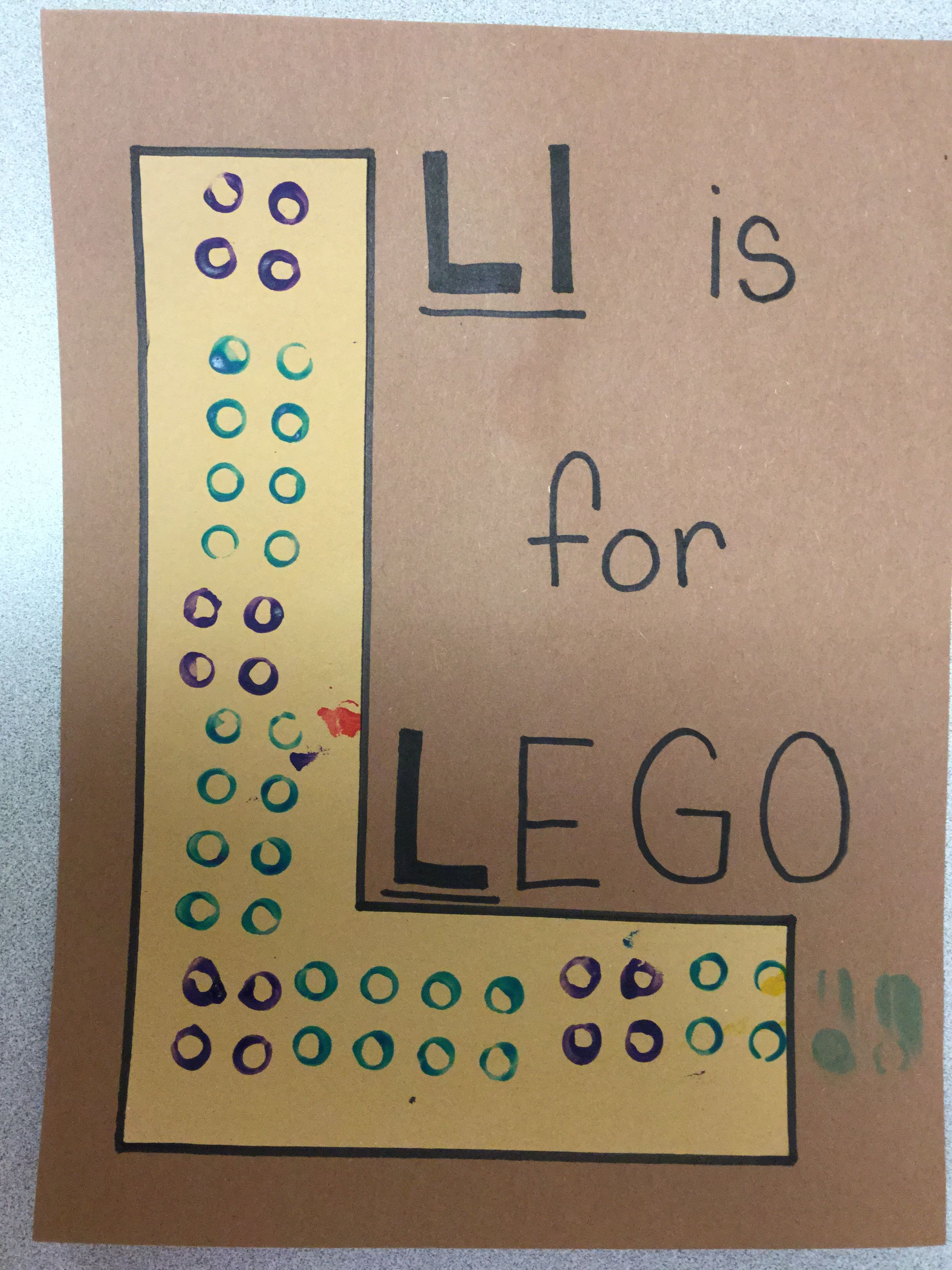 Ll Is For Preschool Letter L Craft Lego Painting