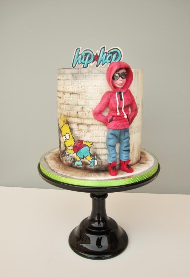 Hip Hop Cake By Daruj Tortu Tanz Kuchen Geburtstagstorten Madchen Farbiger Kuchen