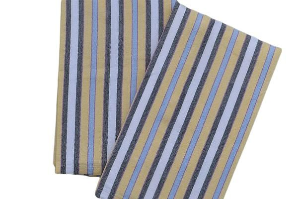 Kitchen Towels From Guatemala Striped In Light Blue Yellow