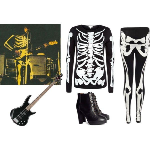 """John Entwistle Skeleton Suit"" by akgsteeler on Polyvore"
