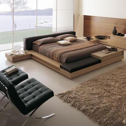 Pin de SimonOelmüller en Home Pinterest Camas, Dormitorio y Recamara - recamaras de madera modernas