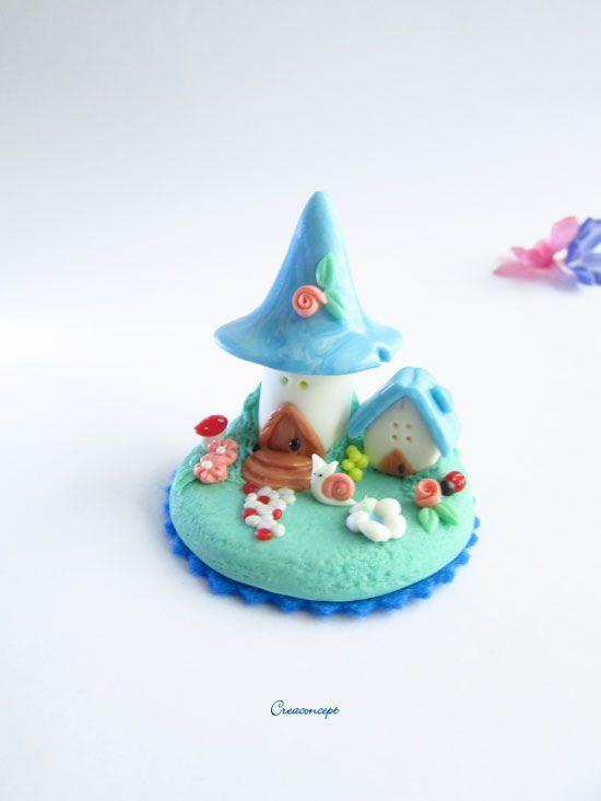 Maison miniature de conte de fée porcelaine froide (fimo polymère ...