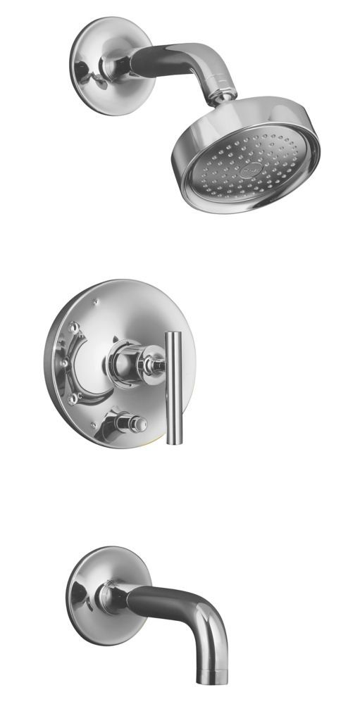 Purist Rite Temp Pressure Balancing Bath Shower Faucet In Polished