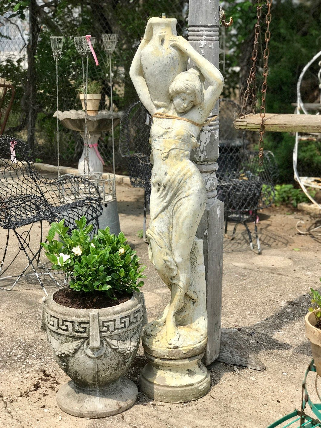 Concrete Lady Statue Fountain 4 5 Tall X 16 Wide 650 Country