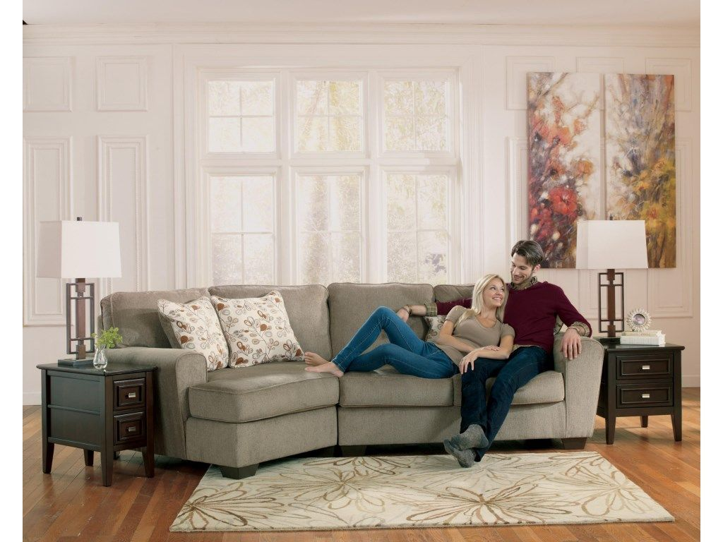 Ashley Furniture Patola Park Patina 2 Piece Sectional With Left Cuddler And Applianc Living Room Sofa