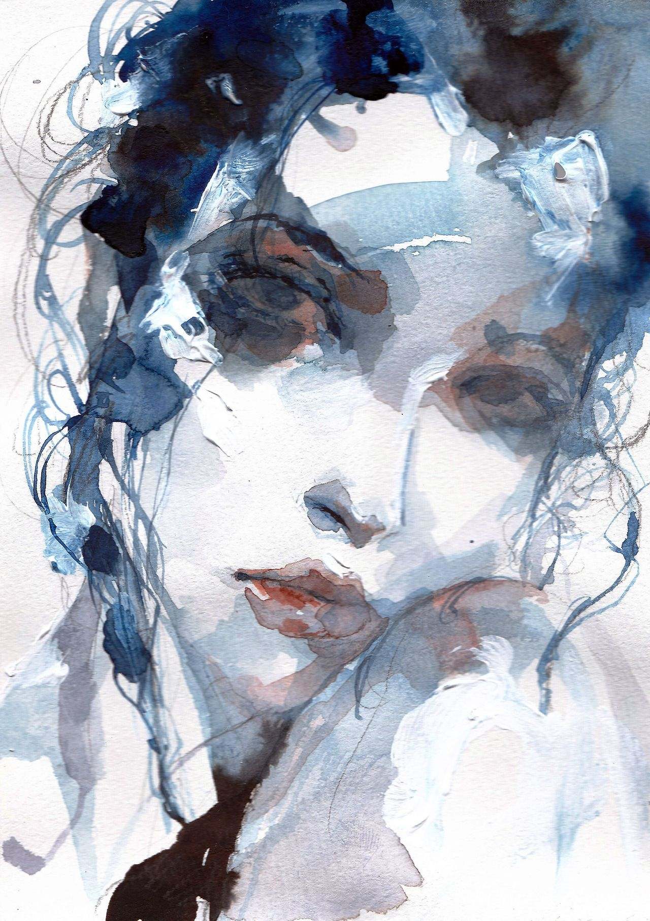 Acryl Menschen Bild Von Margo Pszczolkowska Wasserfarben Kunst