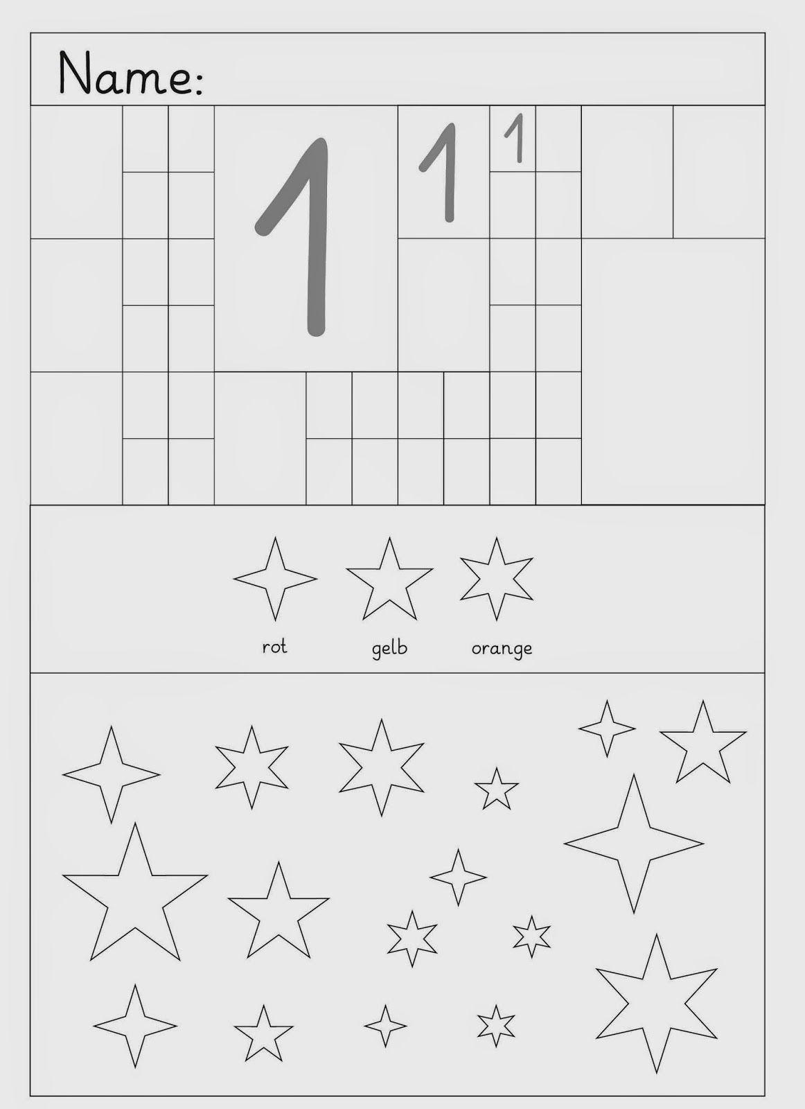 Lernstübchen Ziffern schreiben und andere übungen