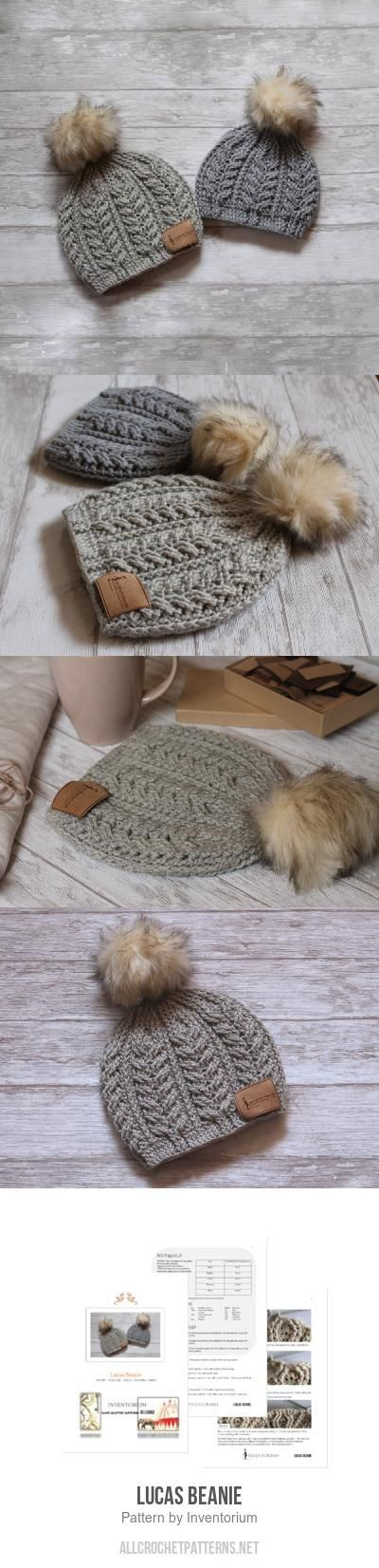 Lucas Beanie crochet pattern by Inventorium | Crochet | Pinterest ...