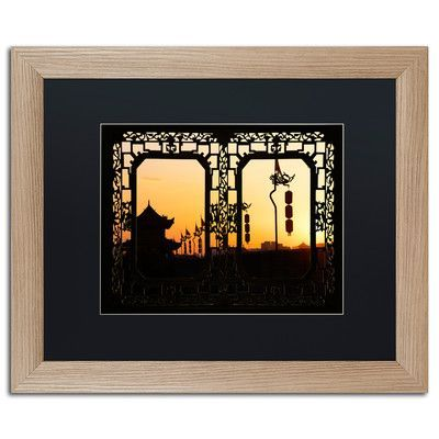 """Trademark Art """"Shadow Light"""" by Philippe Hugonnard Framed Photographic Print Size: 11"""" H x 14"""" W x 0.5"""" D, Matte Color: Black"""