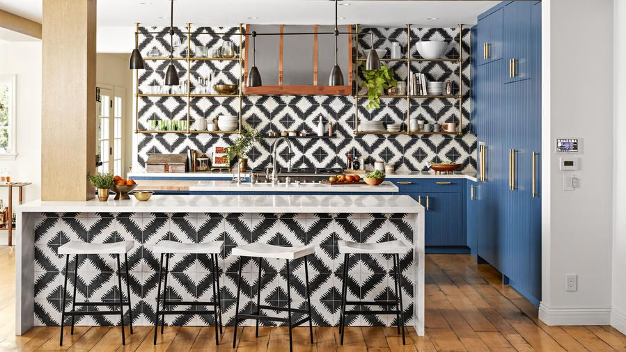tile style  bold kitchen quirky home decor hilary duff