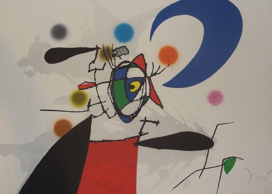 La Arpia y la luna.1973. Grabado y aguatinta 46 x 62 cm. Maeght editor, Paris. Impresión: Morsang, Paris. Miró grabador, Vol. II