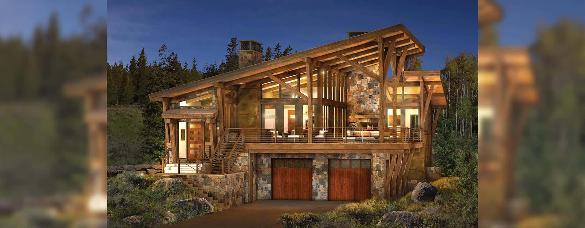 brighton modern timber home rendering | log home | pinterest