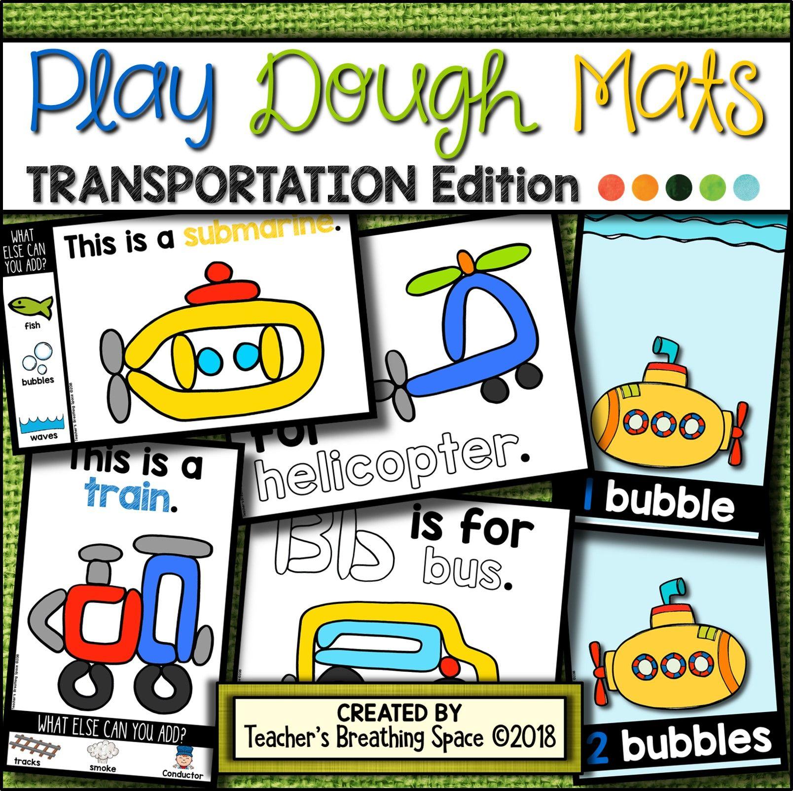 Transportation Play Dough Mats 22 Picture Mats And 10