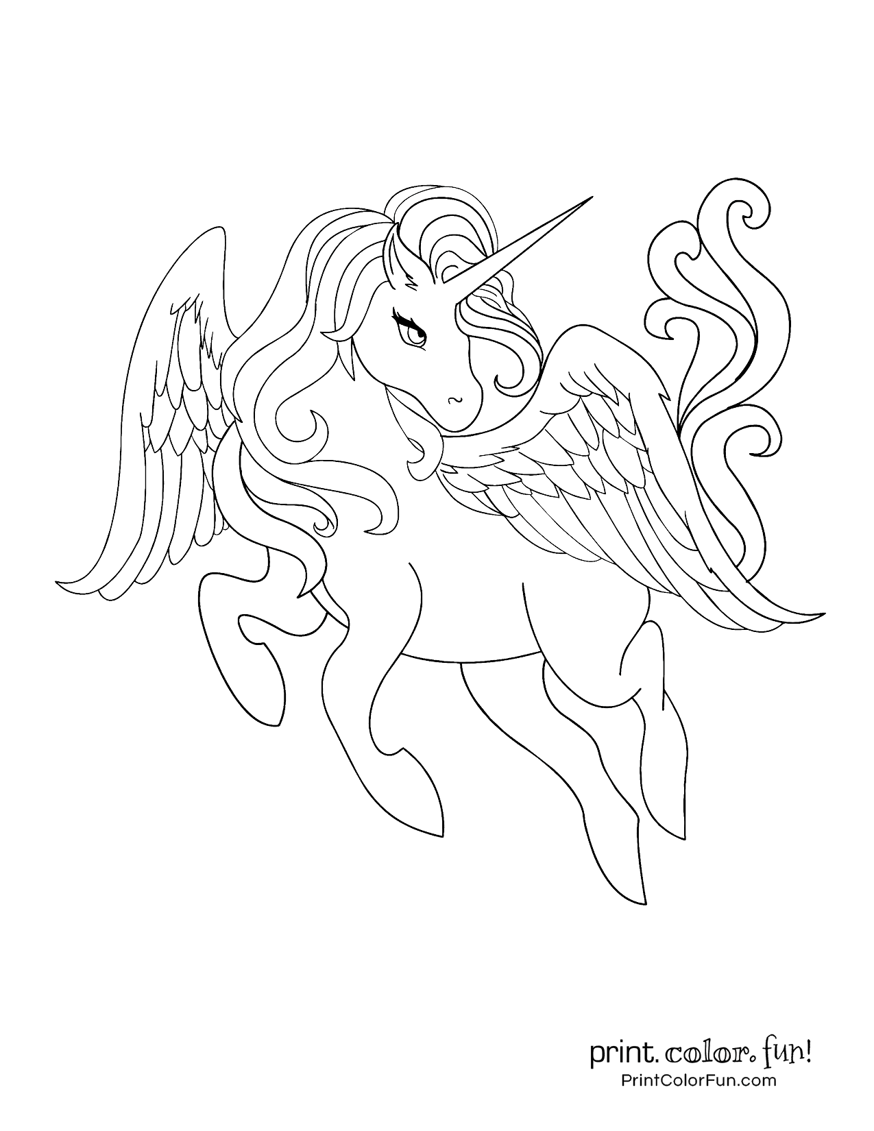 100 Magical Unicorn Coloring Pages The Ultimate Free Printable Collection At Print Color Fun Com Unicorn Coloring Pages Coloring Pages Unicorn Drawing [ 1650 x 1275 Pixel ]