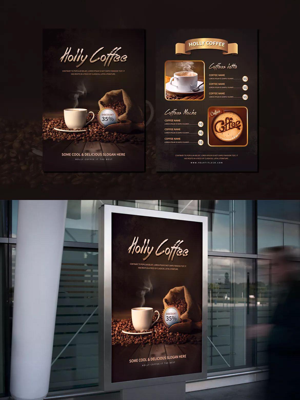 holly coffee menu flyer template psd a4 flyer design templates