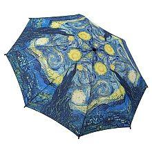 """48/"""" Arc Van Gogh Starry Night Auto-Open Umbrella RainStoppers Rain//Sun UV"""