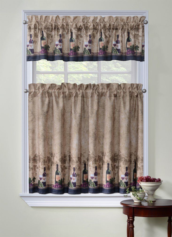 Regal Home Collection Cabernet 3 Piece Kitchen Curtain Tier and Valance Set -- Awesome products selected by Anna Churchill