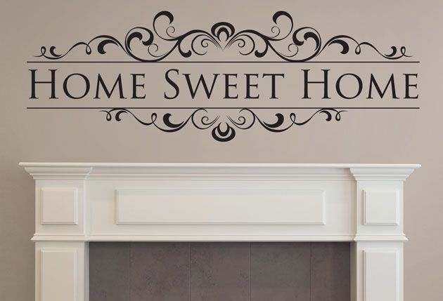 Home Sweet Home Vinyl Wall Quotes And Sayings Art Wall Art