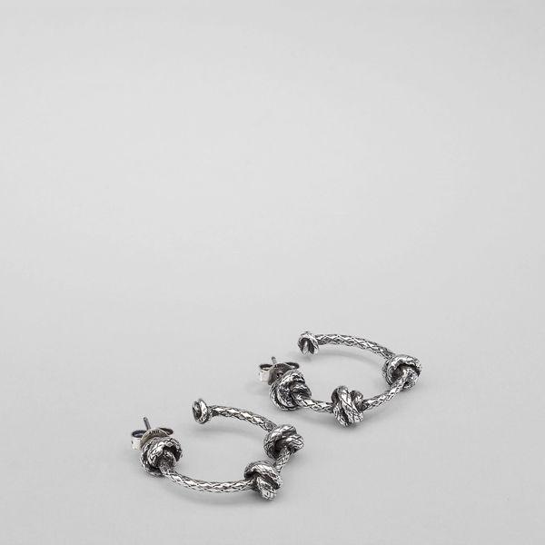 Bottega Veneta antique Intrecciato silver necklace - Metallic pfCKU