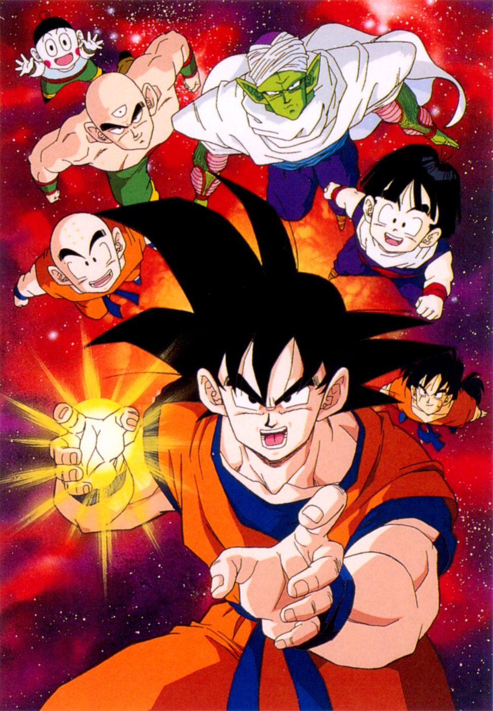Goku Gohan Yamcha Krillin Chiaotzu Tien And Piccolo Personajes De Dragon Ball Dragones Dibujos