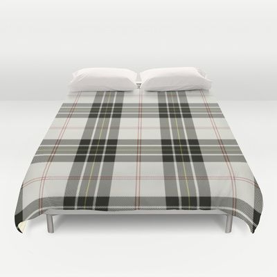 MacPherson tartan Duvet Cover by The Griffin Passant (With