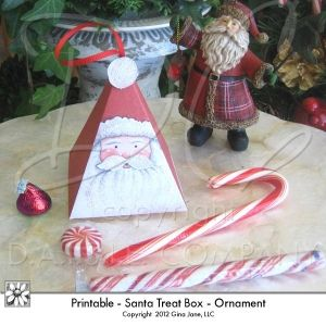 Printable santa treat box do it yourself diy crafts christmas printable santa treat box do it yourself diy crafts christmas ornament solutioingenieria Image collections