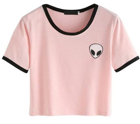 9a073d1f005 Alien Crop Top T-shirt in 2019 | Clothing | Alien crop top, Crop ...