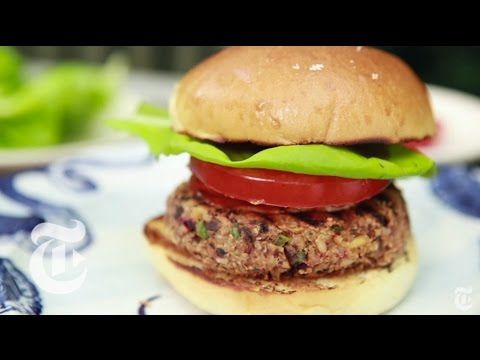 Ultimate Veggie Burger Melissa Clark Recipes The New York Times Youtube Veggie Burger Veggie Burgers Recipe Recipes