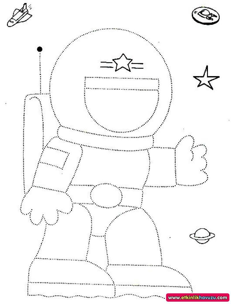 Astronaut Trace For Kids Crafts And Worksheets For Preschool
