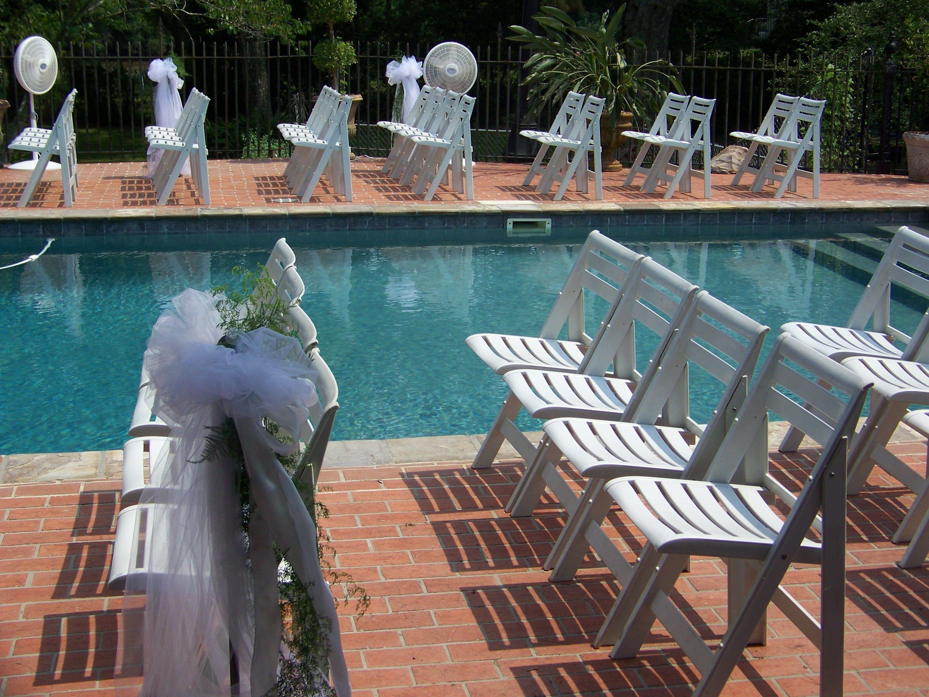 Poolside ceremony Pool wedding, Wedding package, Getting
