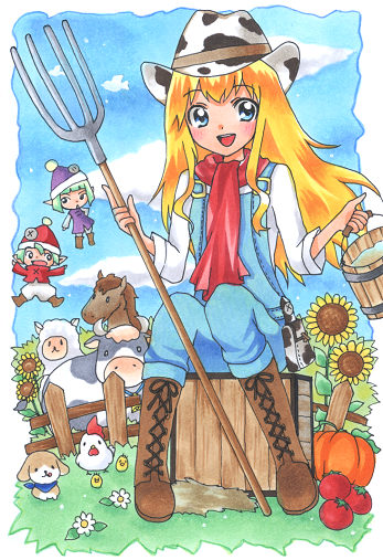 Harvest Moon cowgirl outfit. So cute! Harvest moon game