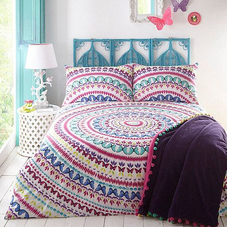 Butterfly Home by Matthew Williamson Multi coloured  Elina  bedding set  at  Debenhams. Butterfly Home by Matthew Williamson Multi coloured  Elina