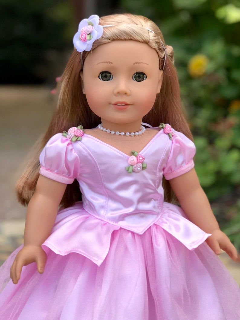 Pink Pearl Necklace for 18 inch Dolls