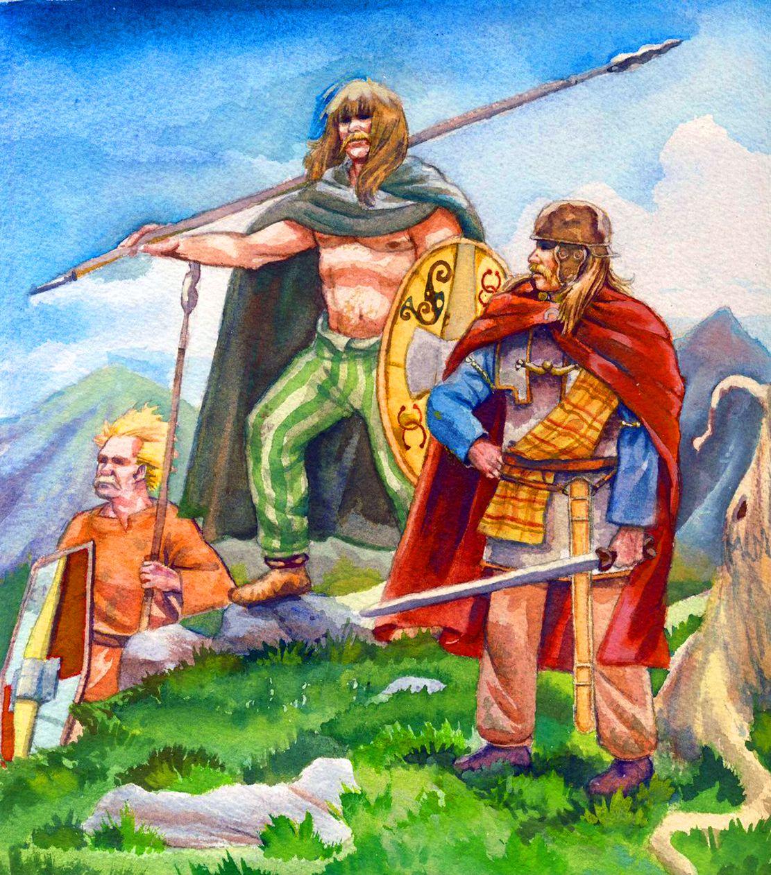 Gallic Warriors In The Alps