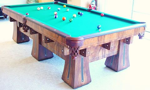 The Kling, Restored Antique Billiards Table