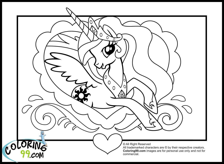 My Little Pony Princess Celestia Coloring Book Friendship