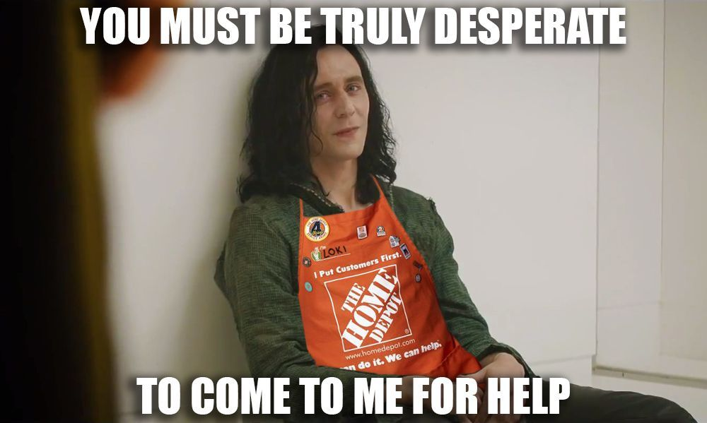 Funniestmemes Com Funny Memes Asking A Home Depot Employee For Advice Funny Memes Funny Pictures Memes