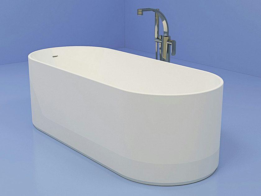 Vasca Da Bagno Flaminia : Vasca da bagno ovale in pietraluce oval by ceramica flaminia