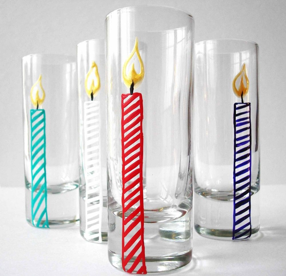 Birthday Candle Glasses