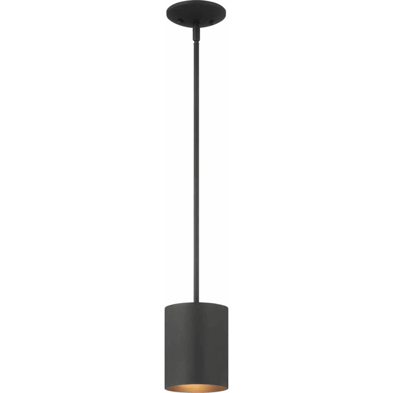 Volume Lighting 9605 5 Black Single Light 5 Wide Outdoor Mini Pendant Volume Lighting Light Compact Light