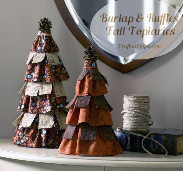 Topiary Decorating Ideas Part - 42: 22 Ways To Use Burlap To Decorate Your Home This Fall