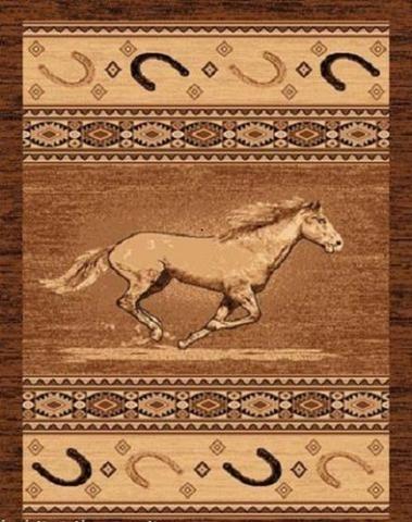 4 X 6 Western Running Horse Area Rug Running Horses Area Rugs Rustic Rugs