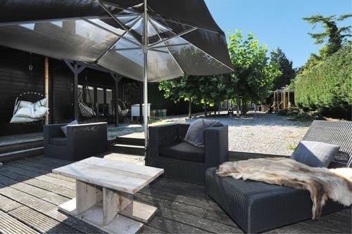 Luxe villa tuin interieur inrichting interior design