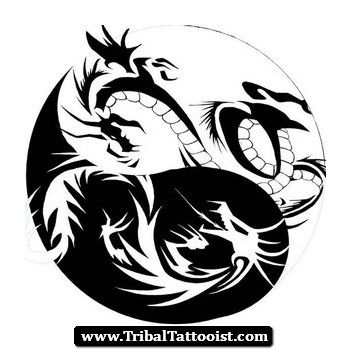 tribal-dragon-yin-yang-tattoo-design.jpg (351×350) | If I got a ...
