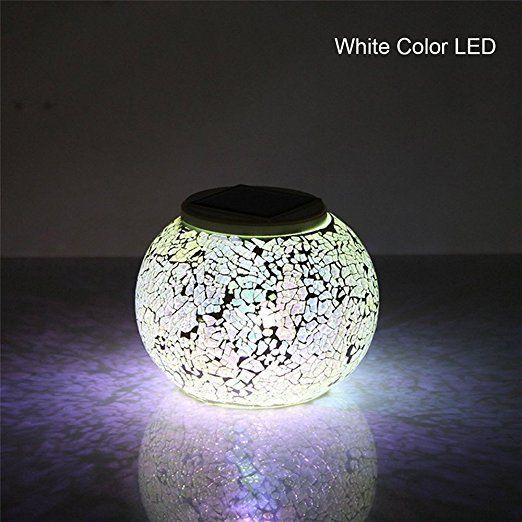 Lampada Solare Cristallo Lampada Da Tavolo Un Regalo Unico E Speciale Cambiare Colore Luce Di Notte Luci Dell A Luci Solari Luci Da Giardino Solari Lampade