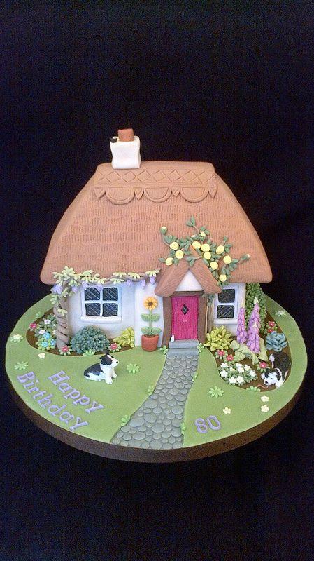 Thatched Cottage Cake #celebrationcakes