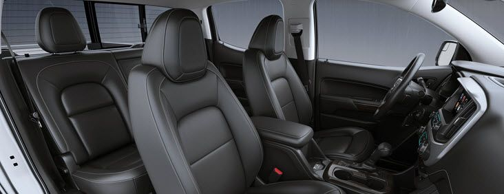 Image Of The 2017 Gmc Canyon S Interior Engineered To Give You And Your Passengers An Exceptional Level Of Quiet Small Pickup Trucks Gmc Canyon Small Trucks
