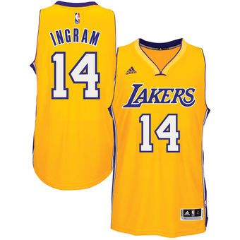 best loved 69cf1 83799 adidas Brandon Ingram Los Angeles Lakers Gold Road Swingman ...