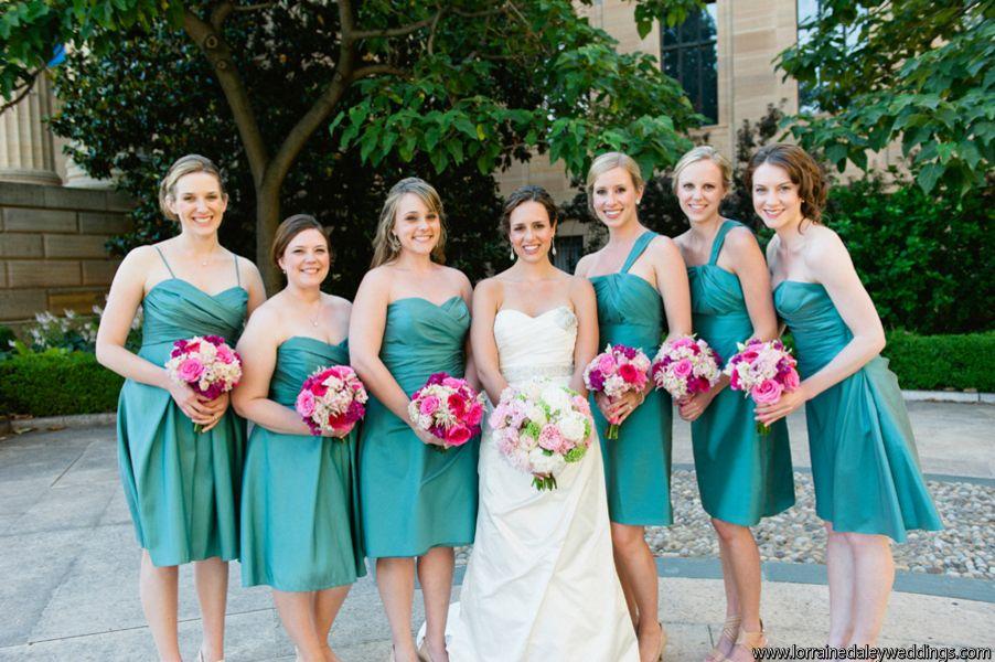 #GlenFoerdMansion #SummerWedding #TurquoiseandPink #Robertson'sFlowers #LorraineDaleyWeddingPhotography #bridalparty