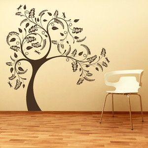 LARGE TREE GIANT Wall Sticker Huge Removable Vinyl Uk Decal Stencil Uk Ne52